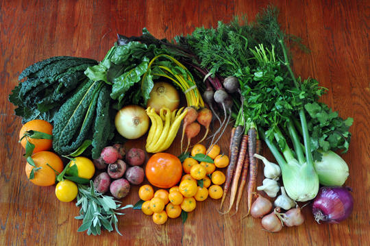 Eating raw vegetables